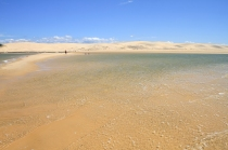 Mer transparente face a la dune du pyla