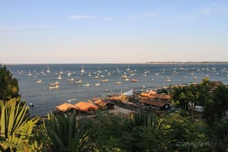 photo du Bassin d'Arcachon fin d'après-midi