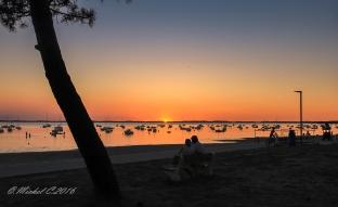 coucher de soleil Andernos