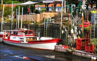 bateau pour l'ostréiculture-peche