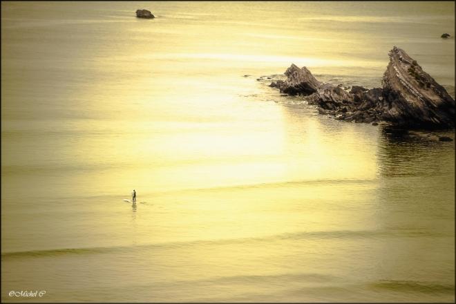 mer calme sans vague
