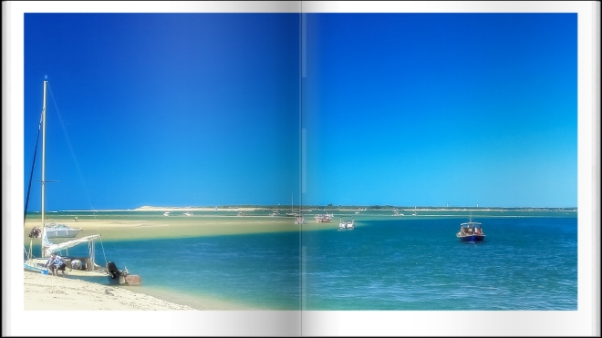 Le banc d'Arguin et le Cap Ferret en face.