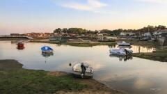 Derniers rayons de soleil sur Piraillan,Bassin d'Arcachon