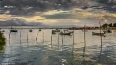 Ciel menaçant sur le Bassin d'Arcachon