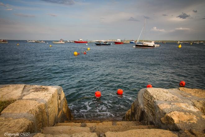 Couleurs et paysage du Bassin d'Arcachon , bateaux de pêches
