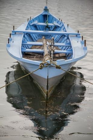 Pinassotte bleu , bateau typique du Bassin d'Arcachon